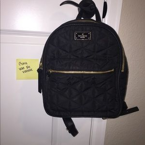 Kate Spade black quilted backpack